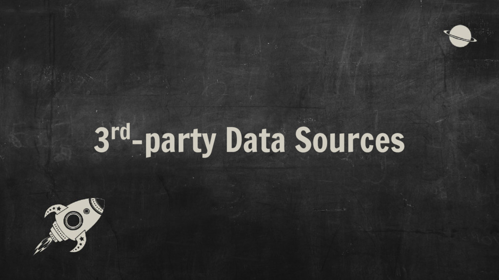 3rd-party Data Sources