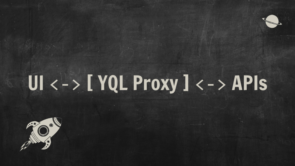 UI <-> [ YQL Proxy ] <-> APIs