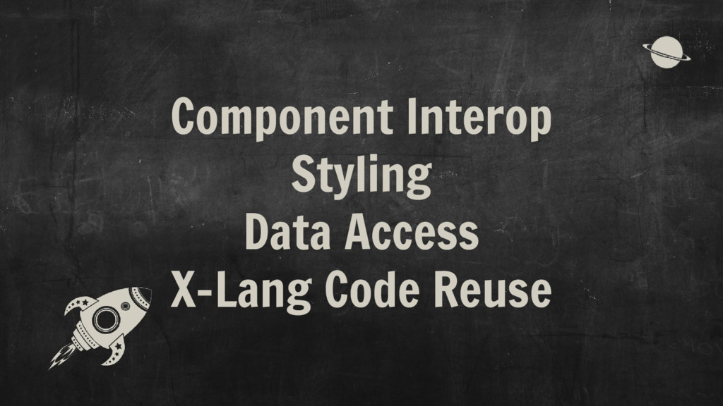 Component Interop Styling Data Access X-Lang Co...