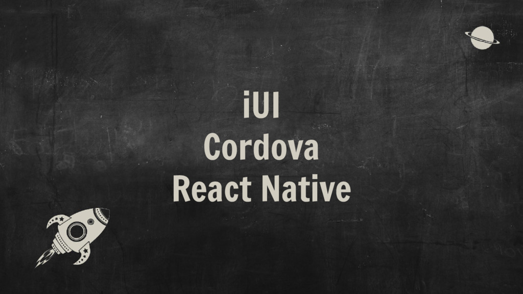 iUI Cordova React Native