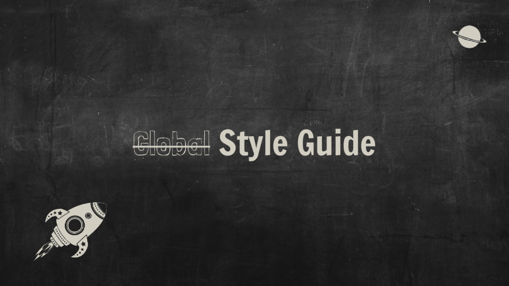 Global Style Guide