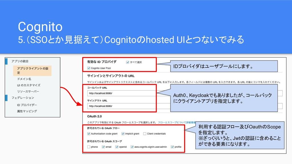 Cognito 5.(SSOとか見据えて)Cognitoのhosted UIとつないでみる I...