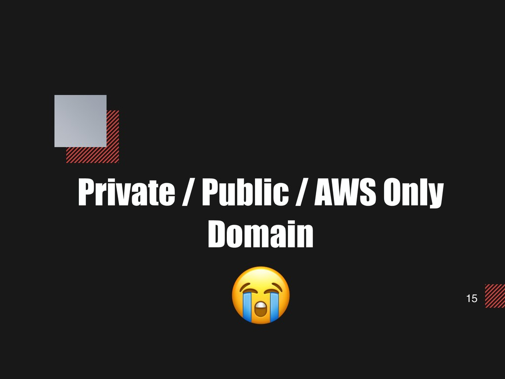 15 Private / Public / AWS Only Domain