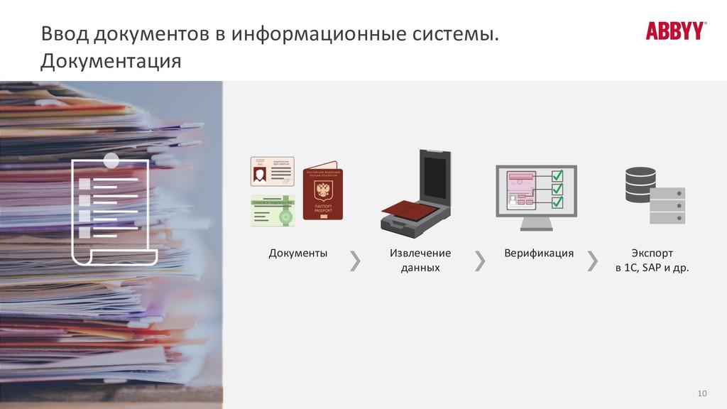 Документы Экспорт в 1С, SAP и др. Извлечение да...