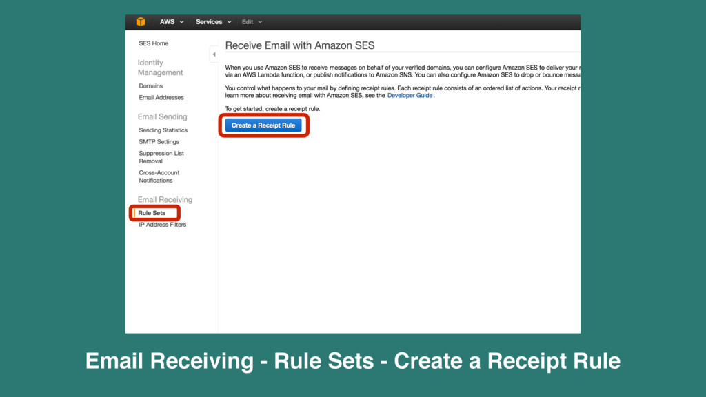 Email Receiving - Rule Sets - Create a Receipt ...