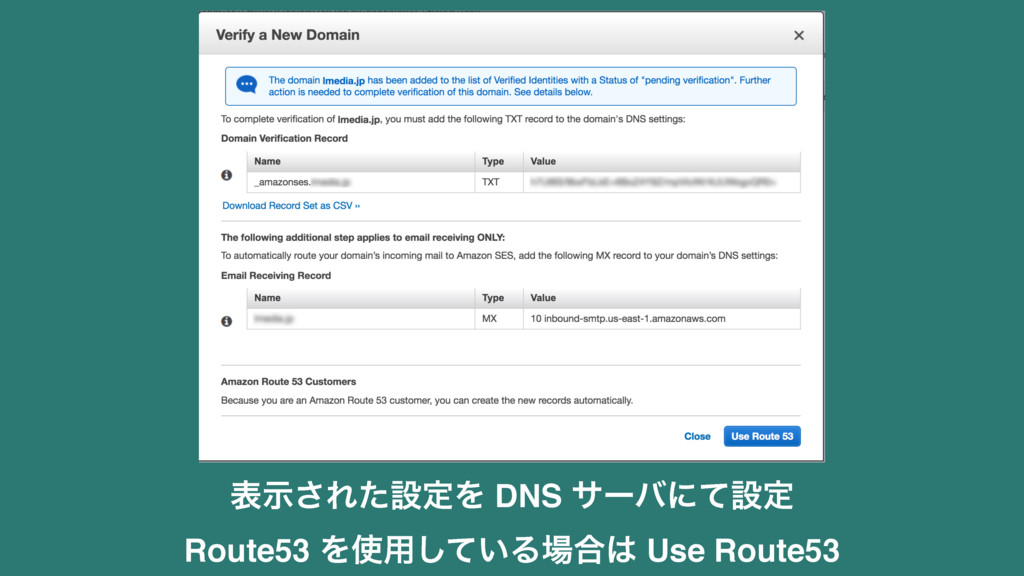 දࣔ͞ΕͨઃఆΛ DNS αʔόʹͯઃఆ Route53 Λ༻͍ͯ͠Δ߹ Use Rou...