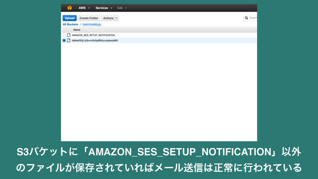 S3όέοτʹʮAMAZON_SES_SETUP_NOTIFICATIONʯҎ֎ ͷϑΝΠϧ͕...