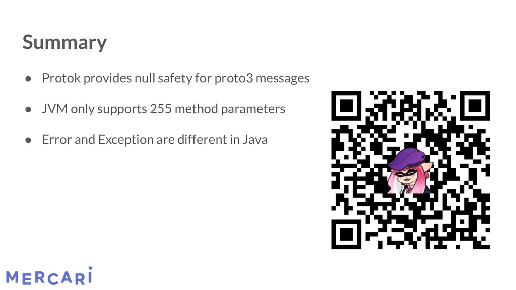 Summary ● Protok provides null safety for proto...