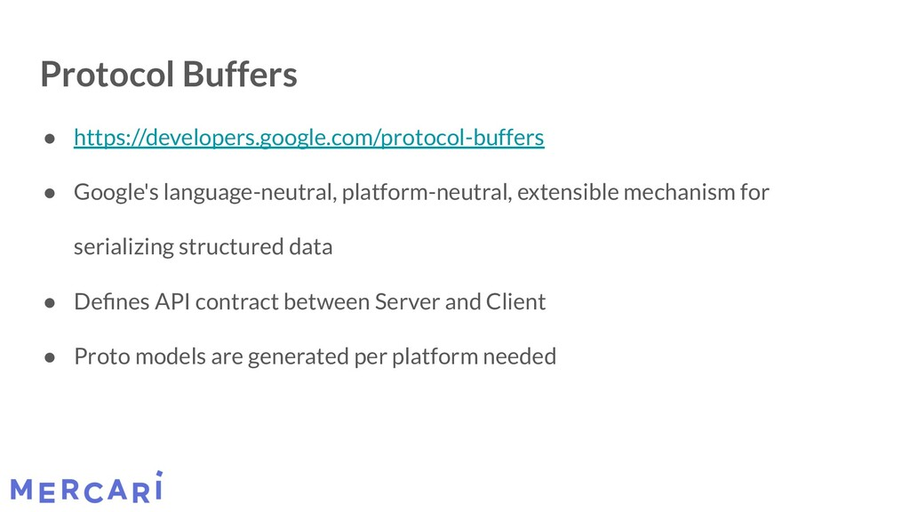 Protocol Buffers ● https://developers.google.co...