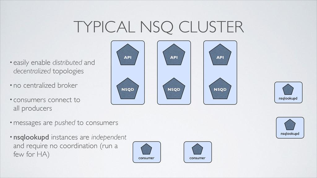 NSQ NSQD API consumer NSQ NSQD API NSQ NSQD API...