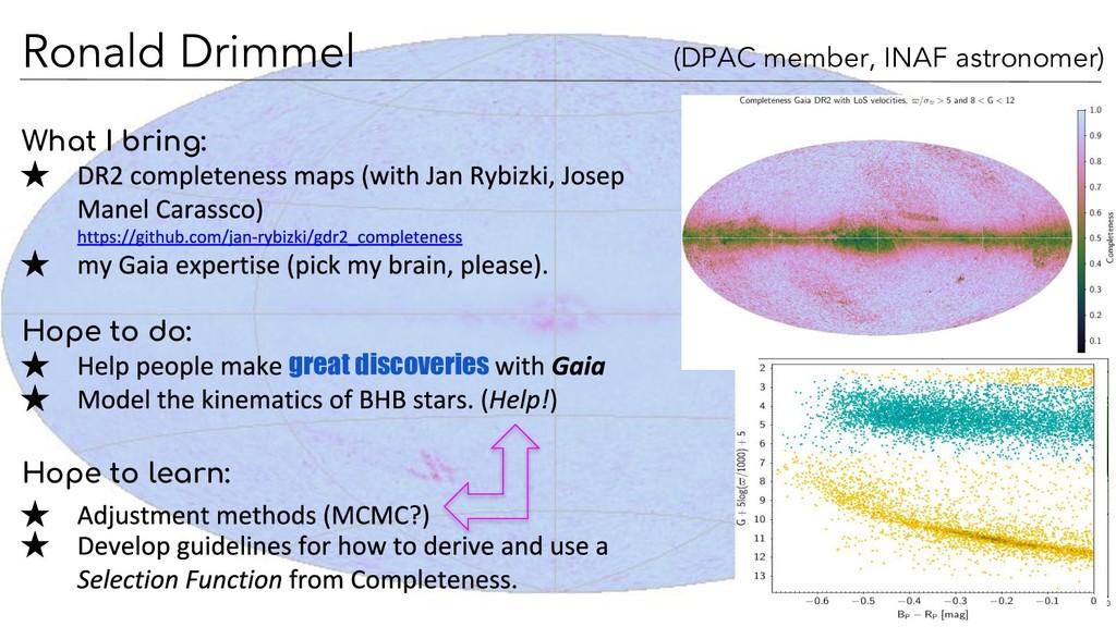 Ronald Drimmel (DPAC member, INAF astronomer) W...