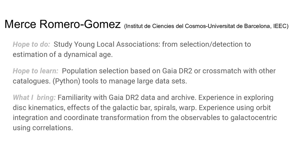 Merce Romero-Gomez (Institut de Ciencies del Co...