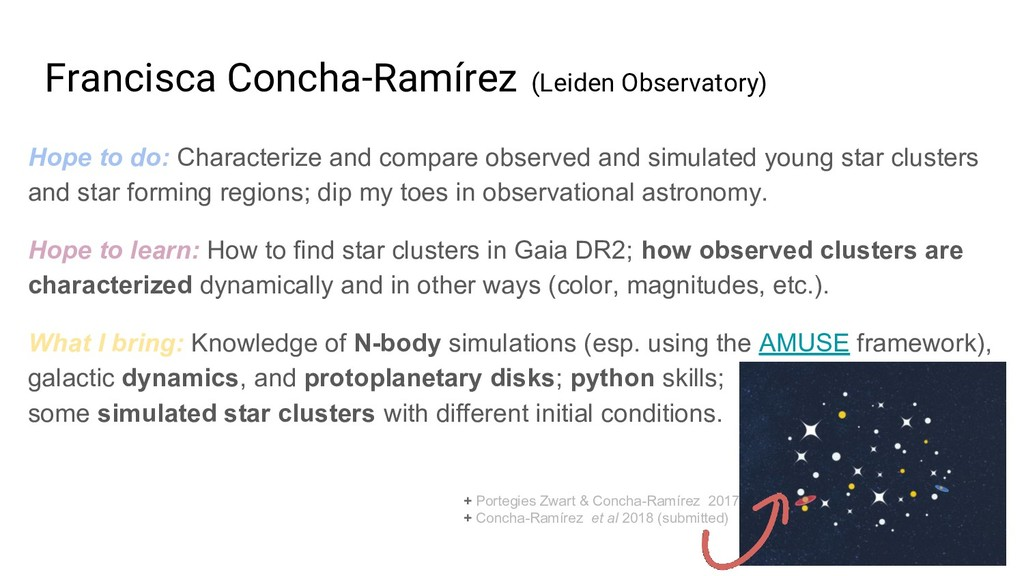 Francisca Concha-Ramírez (Leiden Observatory) H...