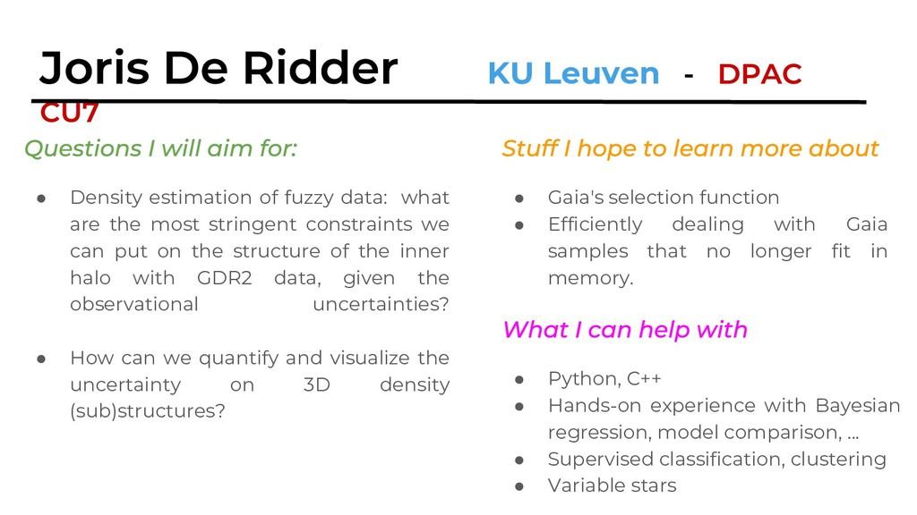 KU Leuven ● Density estimation of fuzzy data: w...
