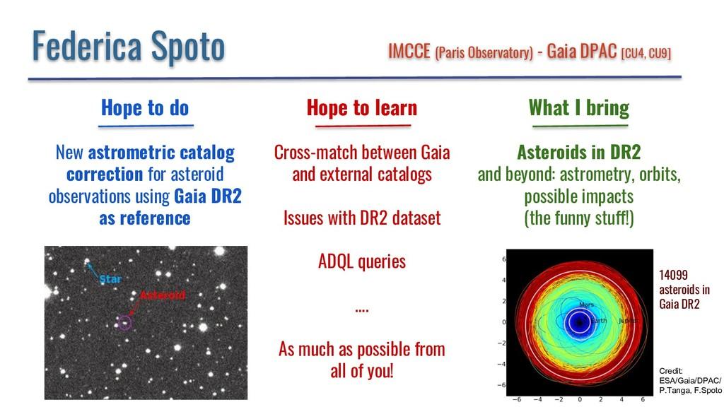 Federica Spoto IMCCE (Paris Observatory) - Gaia...