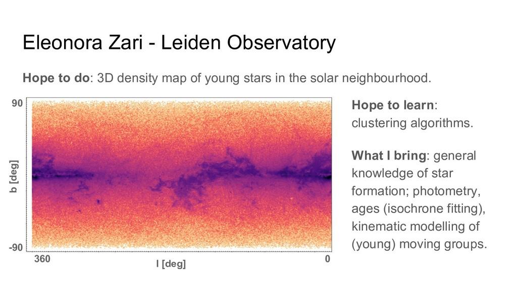 Eleonora Zari - Leiden Observatory Hope to do: ...
