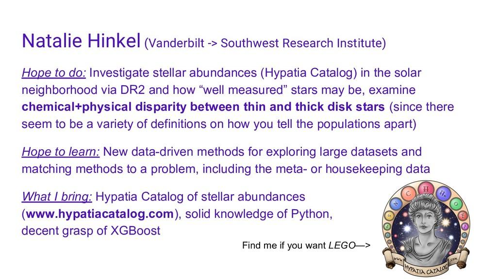 Natalie Hinkel (Vanderbilt -> Southwest Researc...