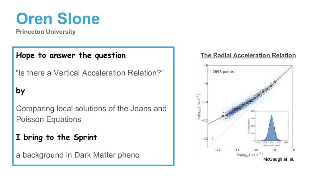 Oren Slone Princeton University Hope to answer ...