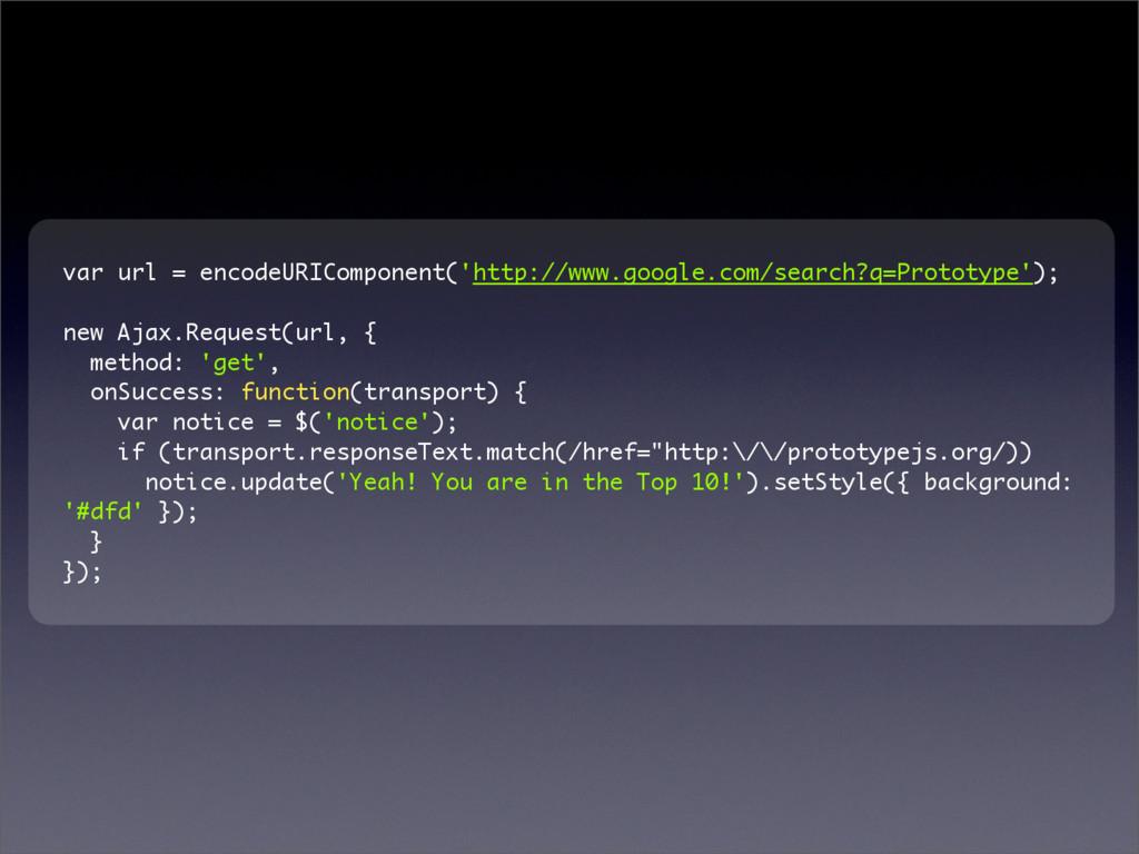 var url = encodeURIComponent('http://www.google...