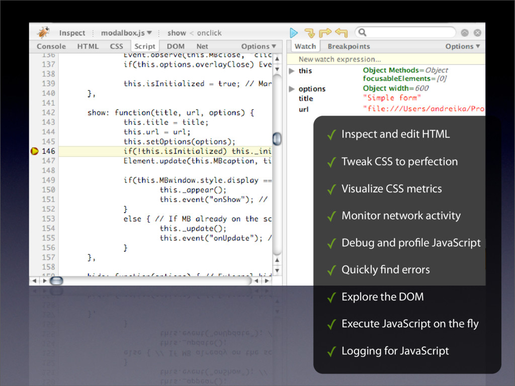 ✓ Inspect and edit HTML ✓ Tweak CSS to perfecti...