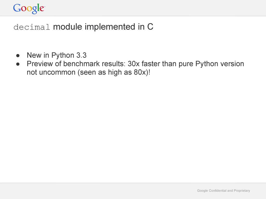 Google Confidential and Proprietary decimal mod...
