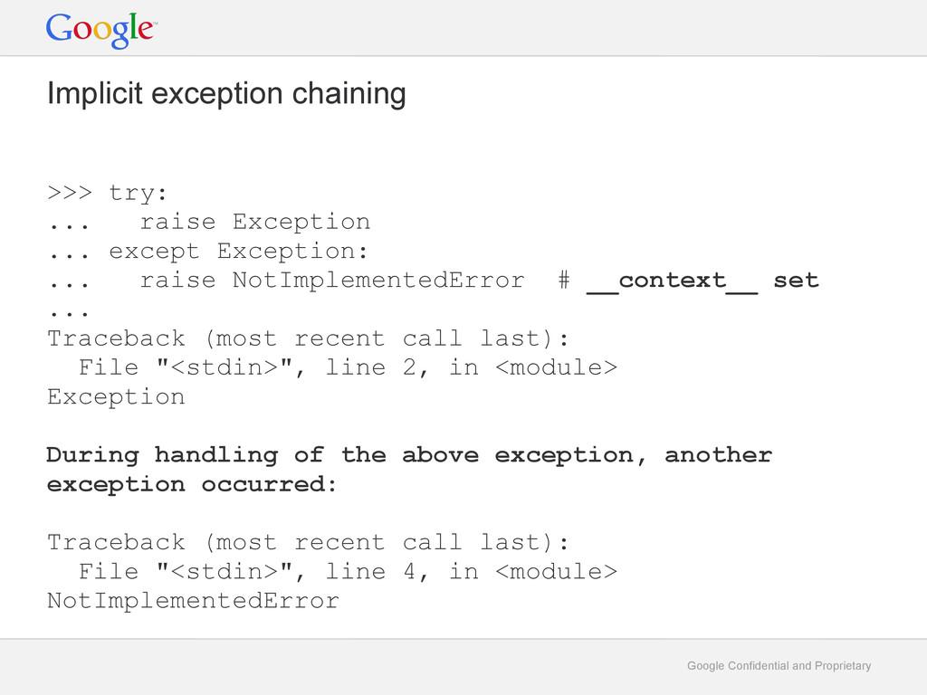 Google Confidential and Proprietary Implicit ex...