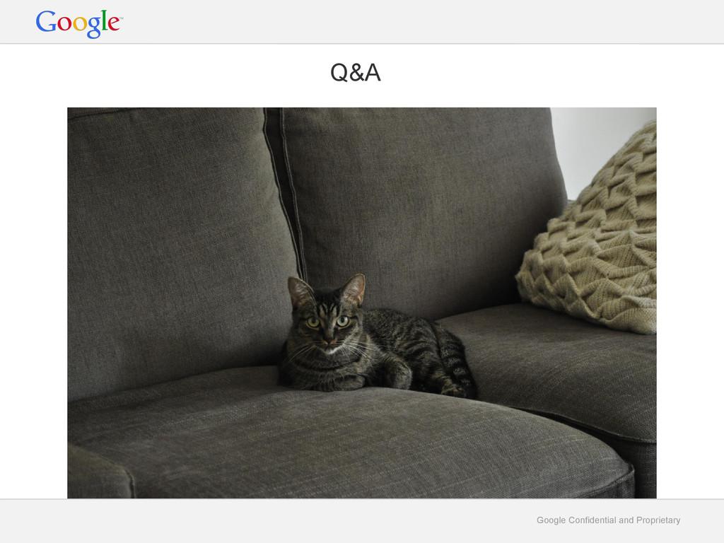 Google Confidential and Proprietary Q&A