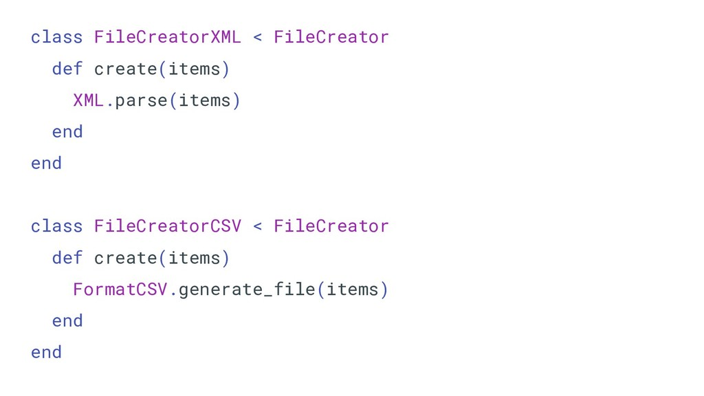 class FileCreatorXML < FileCreator def create(i...
