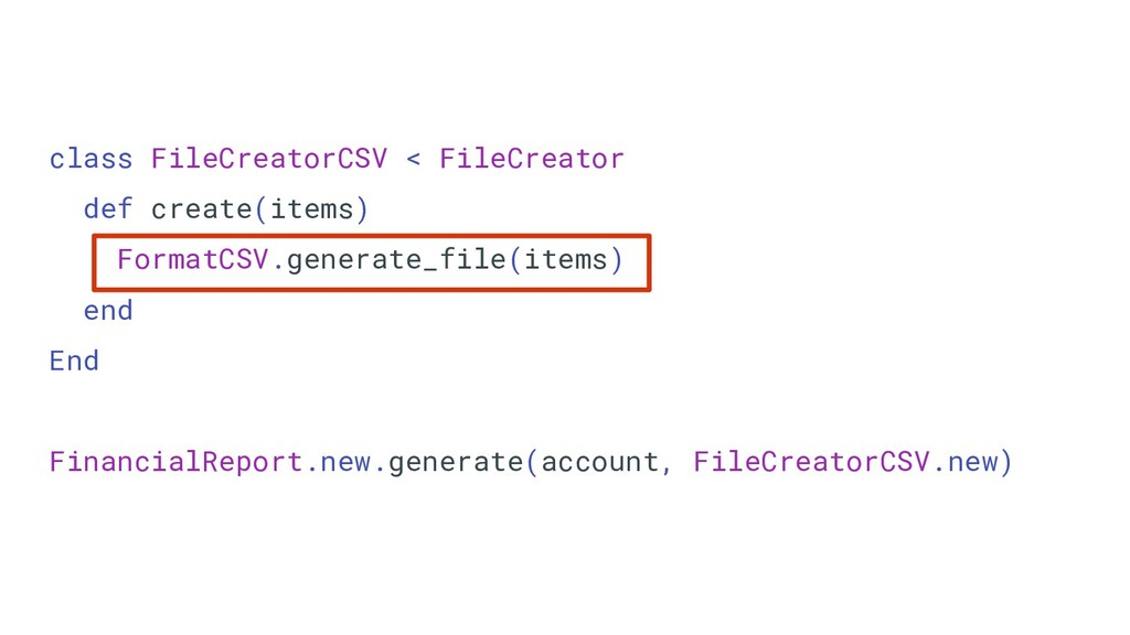 class FileCreatorCSV < FileCreator def create(i...