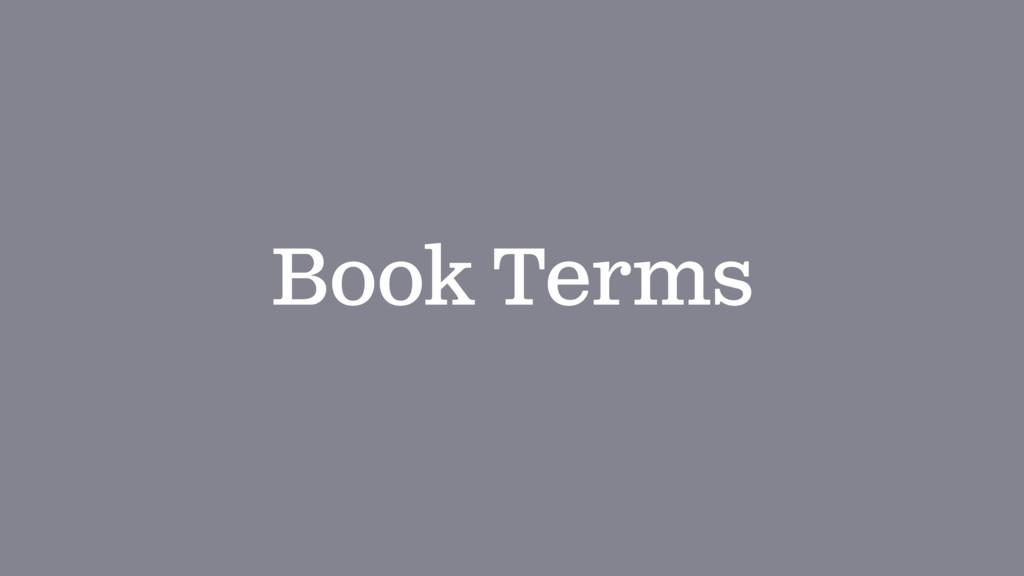 Book Terms