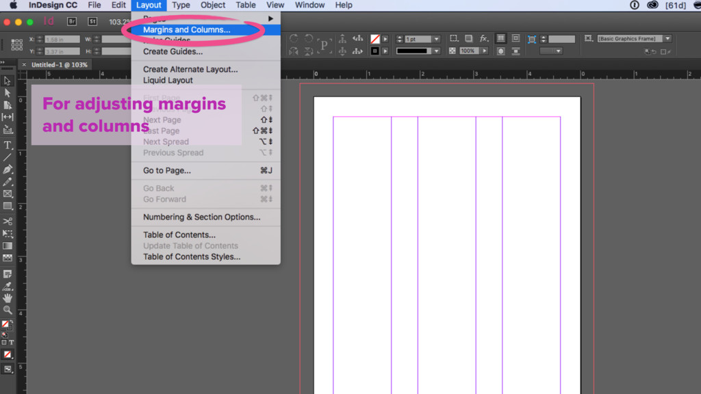 For adjusting margins and columns