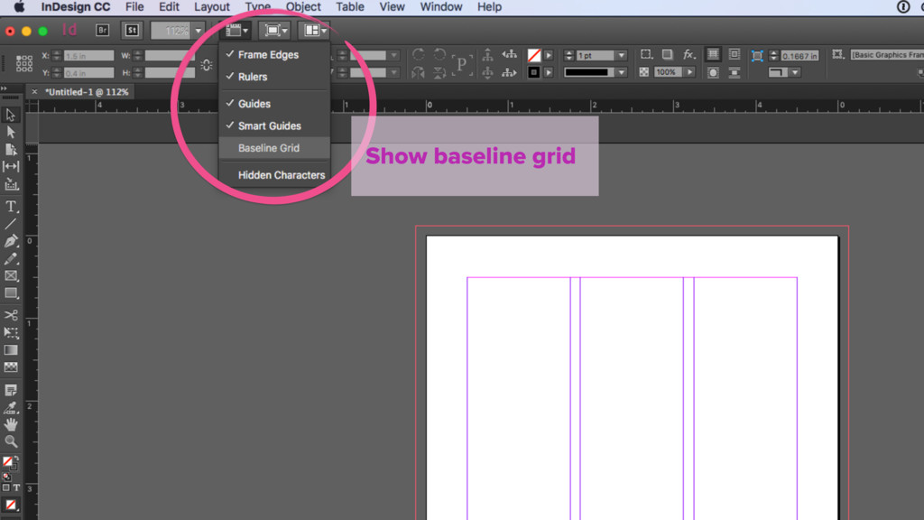 Show baseline grid