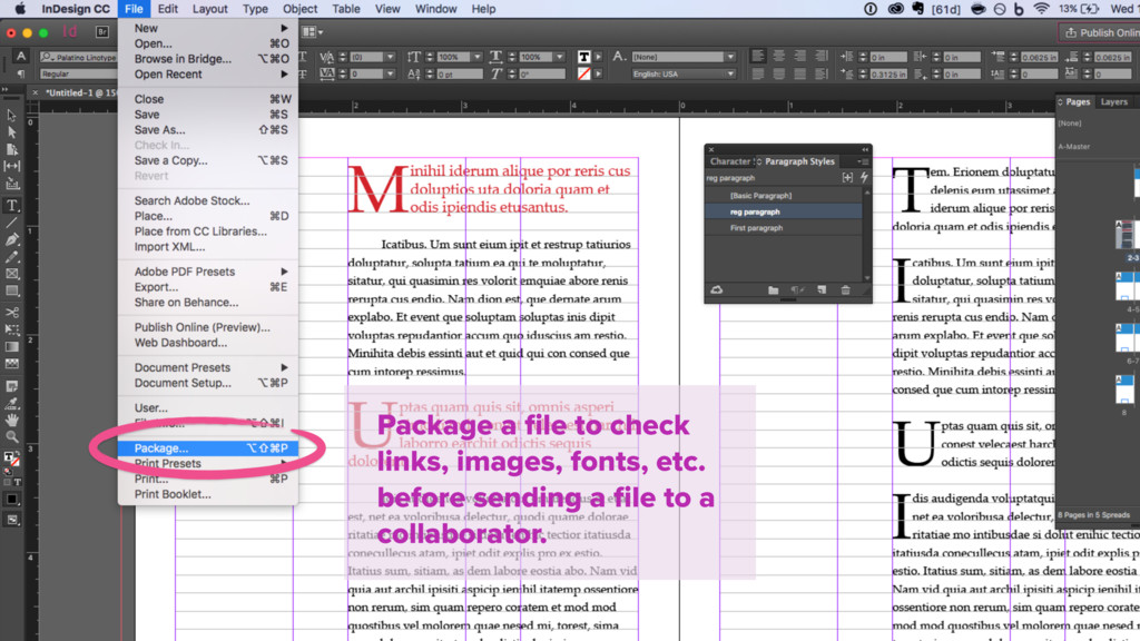 Package a file to check links, images, fonts, et...