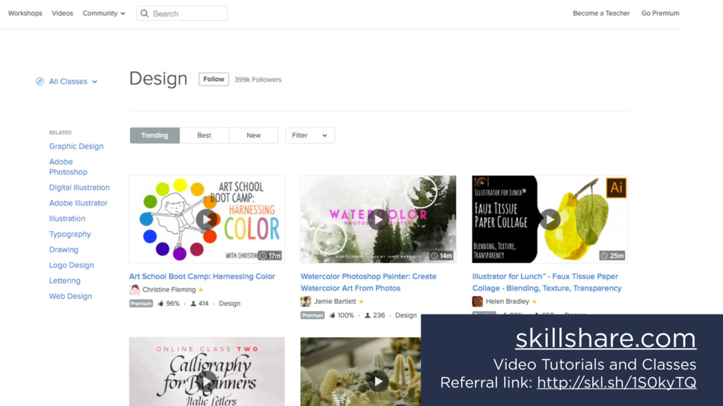 skillshare.com Video Tutorials and Classes Refe...