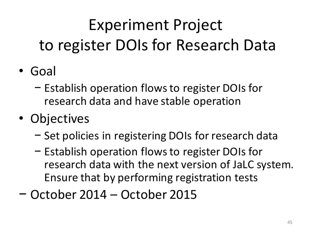 Experiment Project to register DOIs for Researc...
