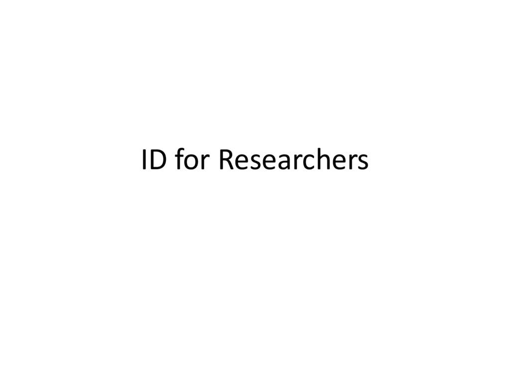 ID for Researchers