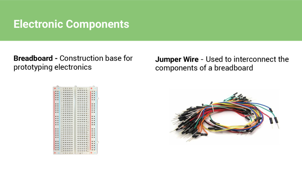 Electronic Components Breadboard - Construction...