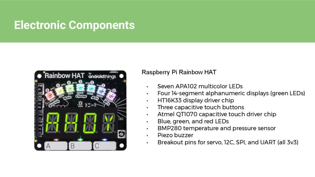 Electronic Components Raspberry Pi Rainbow HAT ...
