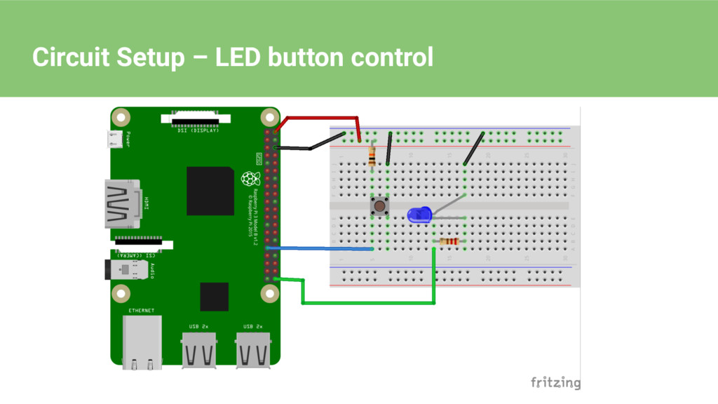 Circuit Setup – LED button control