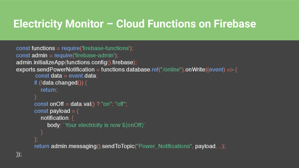 Electricity Monitor – Cloud Functions on Fireba...