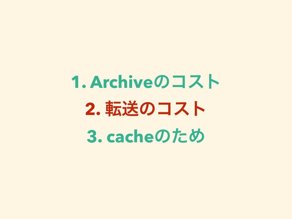 1. Archiveͷίετ 2. సૹͷίετ 3. cacheͷͨΊ