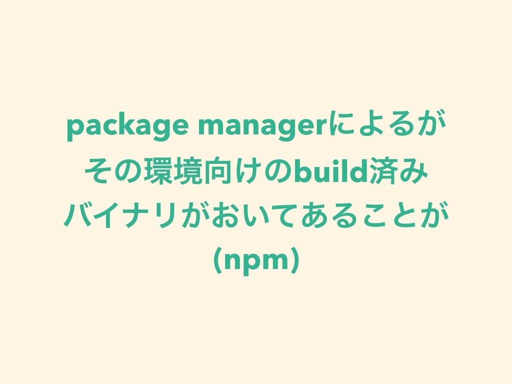 package managerʹΑΔ͕ ͦͷڥ͚ͷbuildࡁΈ όΠφϦ͕͓͍ͯ͋Δ͜ͱ...