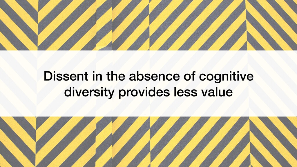 Dissent in the absence of cognitive diversity p...