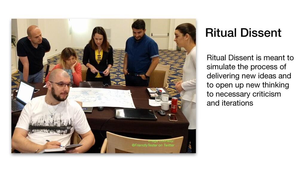 Ritual Dissent Image courtesy: @FriendlyTester ...