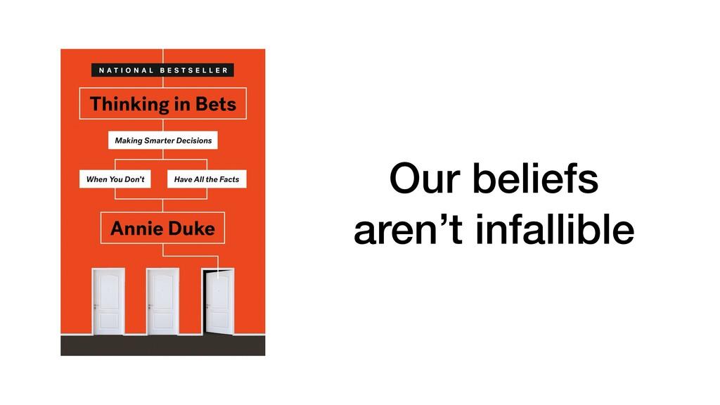 Our beliefs aren't infallible