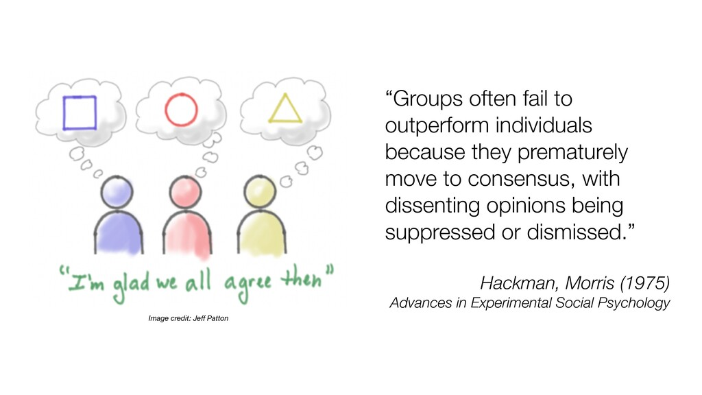 """Groups often fail to outperform individuals be..."