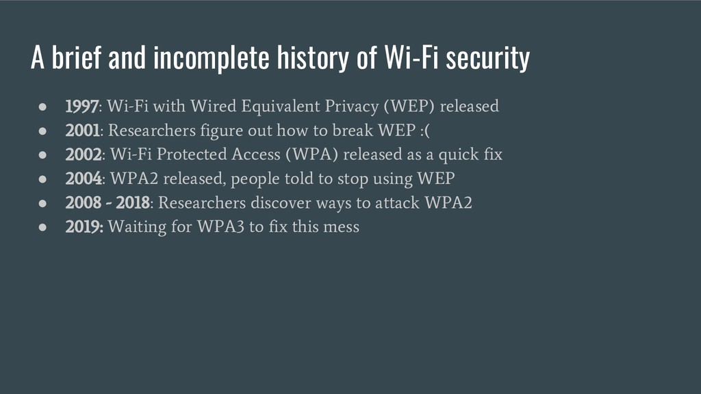 A brief and incomplete history of Wi-Fi securit...