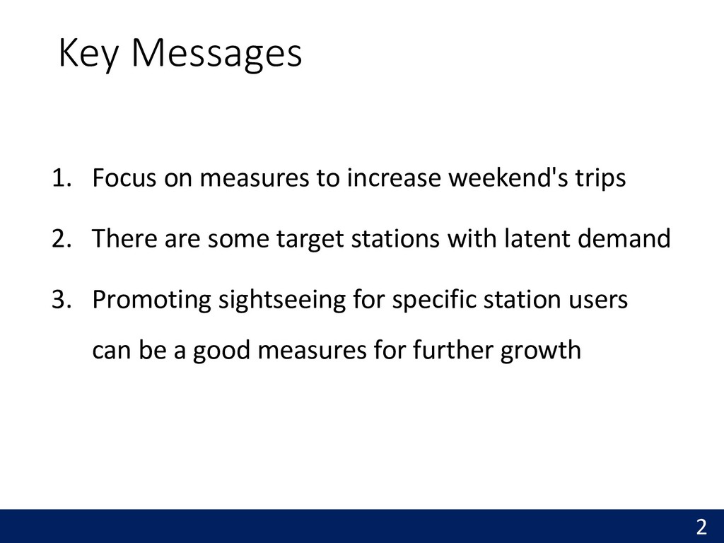 Key Messages 1. Focus on measures to increase w...