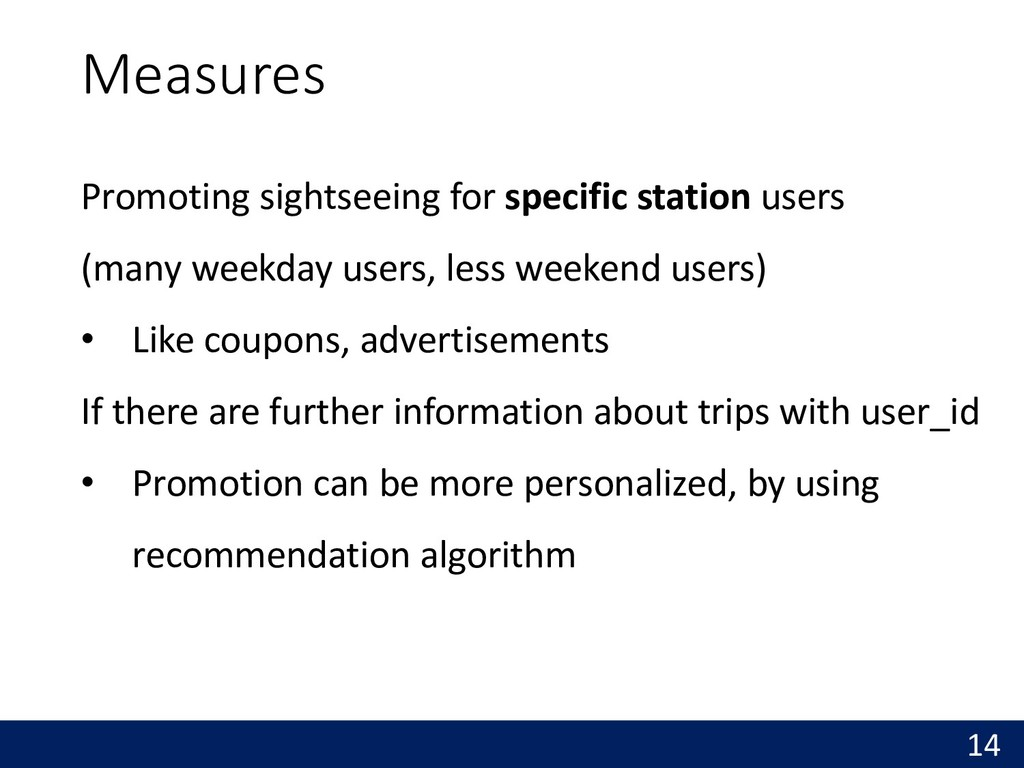 Promoting sightseeing for specific station user...