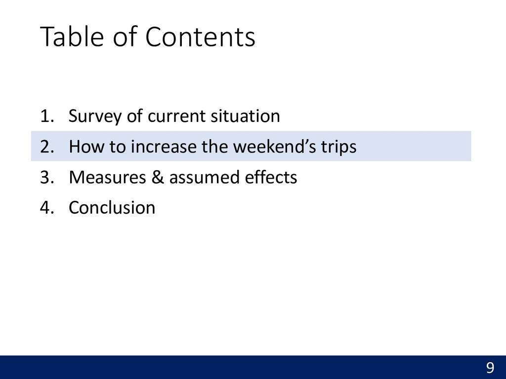 Table of Contents 1. Survey of current situatio...